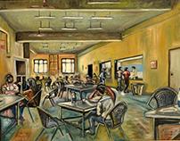 College Cafeteria at 01:00 p.m.