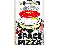 Space pizza Illustraded