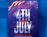 4th of July Flyer Template - Photoshop