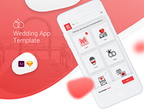 Wedding App Template Freebie + case-study