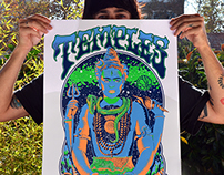Temples Poster / Screen print