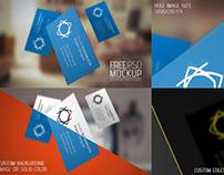 Free Flying Elegant Business Card Mockup PSD