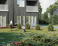 Visualization of a residential building in Norway