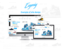 Site for sneakers shop   Example of site design