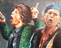 Rolling Stones 100x150cm - Acrylic on Canvas