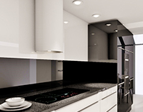 Black&White - Kitchen design in Gdynia Mały Kack