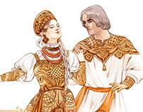"""Illustrations """"Russian souvenir"""""""