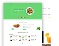 Food Lounge - Restaurant Landing Page