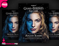 Game Of Thrones Free Flyer Template
