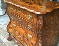 Dutch Bombe Commode Restoration