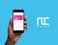 NIC Bank app Concept