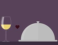 Moscato Wine Pairing Illustrations