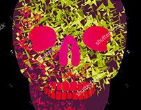skull graphic design vector art