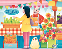 Farmer's Market_Match up Game & Puzzle