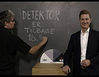 Blackboard film. Trailer for Detektor tv show (DR).