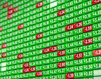 Stock Market Indicator Board - Positive