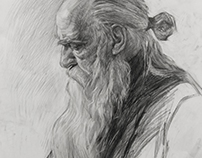 A portraiture of an old man