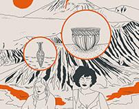 El dibujo de Roberto Bolaño en Los detectives salvajes