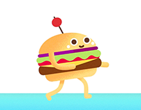 Happy Burger - Walk cycle