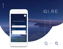 AIRE app - ui design