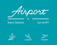 Icon set 1: Airport collection