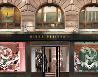 Window Display Design for MINNA PARIKKA shoe store