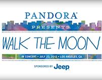 Pandora Presents Walk The Moon Animation