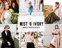 Free Mist & Ivory Mobile & Desktop Lightroom Presets