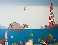 Cafmeyer, wall graphic for children clothing shop