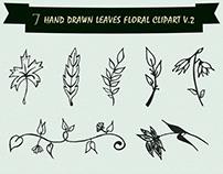 Free Handmade Leaves Floral Clipart V2