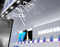 Exhibition stand for SAMSUNG