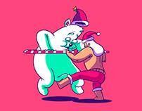 Santa vs bear (cocacola)