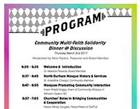 Multi-faith Dinner Event layout