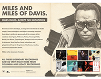 Sony Legacy - Miles Davis Press Ad