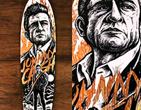 Johnny Cash Deck Illustration
