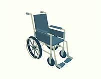 Wheelchair - Flat 3D