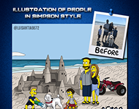 Simpson-style Characters: Family on the Beach