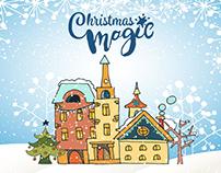 Christmas Magic Free Vector Illustration