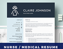 Nurse Resume Template RN Nurse resume - Nurse CV
