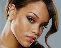 Rihanna - Photo-realistic Digital Painting