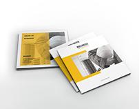 Bulldozer - Square Construction Brochure Template