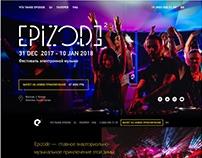 Серия лендингов для фестиваля музыки EPIZODE 2