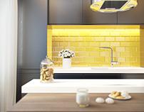 3d visualization / interior design / Apartment 37m2
