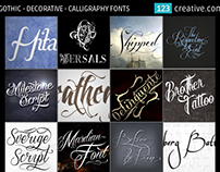 Gothic Decorative Calligraphy Fonts
