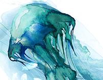 Jellyfish Illustration and Apparel