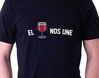 """Adaptación de campaña """"El vino nos une""""."""