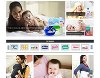 Webpages for Gifts, Babycare and Rakhi.