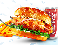 Fish burger banner