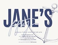 Jane's Birthday Invite