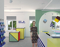 tourist information office. Concept